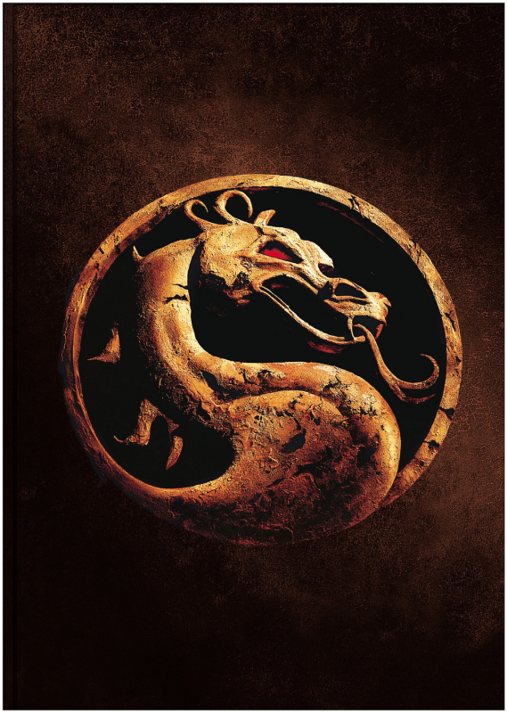 Mortal Kombat Dragon Logo Premium METAL Poster Art Print Plaque Gift